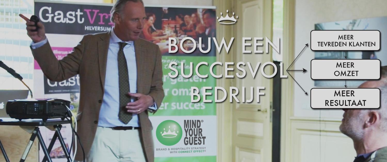 Mind Your Guest Robert Bosma succes bedrijf klanten tevreden Model van Aandacht hospitality service kwaliteit gastvrijheid training klantvriendelijkheid masterclass succes omzet resultaat The Connect Effect