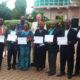 Uitreiking van de trainerscertificaten in Bukavu, Congo medewerkers managers directie hotels restaurants gasten training gastvrijheid Robert Bosma Mind Your Guest gastvrije professionals hospitality klantvriendelijkheid training gastvrijheid