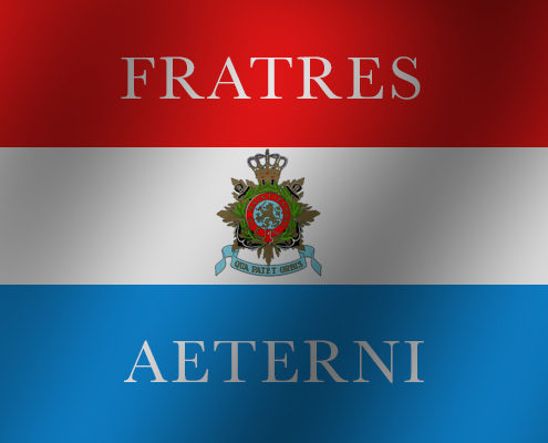 Farewell with attention funeral, cremation, ceremony, Marine Corps, Royal Dutch Navy, barracks, suffisant, curaçao, the West qua patet orbis, fratres aeterni, brothers in arms, father, attention, training, hospitality, Mind Your Guest, Robert Bosma